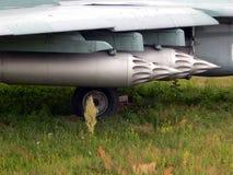 Armamento de los cohetes de los aviones y de los helicópteros imágenes de archivo libres de regalías
