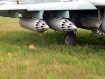Armamento de los cohetes de los aviones y de los helicópteros imagen de archivo
