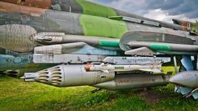 Armamento del avión de reacción ruso fotografía de archivo