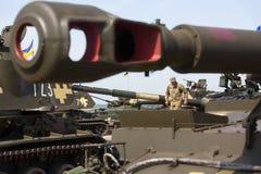 Armamento y equipo militar de las fuerzas armadas de arma de Ucrania imagen de archivo libre de regalías