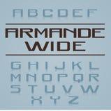 Armande Font Alphabet Royaltyfria Bilder