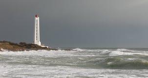 Armandeche lighthouse in les Sables d`Olonne stock video footage