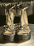 armani方式意大利鞋子 库存照片