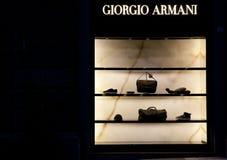 Armani del almacén de la manera Imagen de archivo libre de regalías