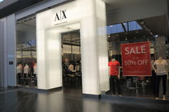 Armani Exchange fashion brand Stock Photo
