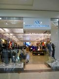Armani Exchange Retail Outlet royalty free stock photography