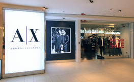 Armani Exchange shop in hong kong Stock Photography