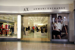 Armani Exchange store Royalty Free Stock Photography
