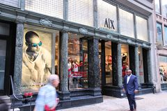 Armani Exchange store Stock Image