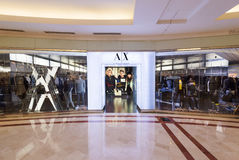 Armani Exchange store in Suria KLCC mall, Kuala Lumpur. KUALA LUMPUR - SEPTEMBER 13, 2016: The Armani Exchange store in the Suria KLCC mall. Inspired by street Stock Photography