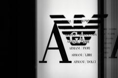 Armani fashion logo stock image