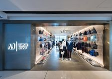Armani Jeans Store In IFC Mall, Hong Kong Stock Images