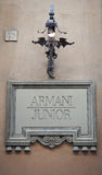 Armani Junior sign Royalty Free Stock Photo