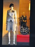 Armani woman fashion shop in Italy  Royalty Free Stock Photos