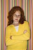 armar korsade flickan Royaltyfri Foto