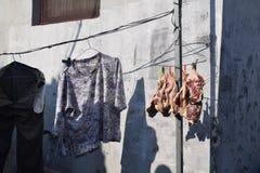 Armario al aire libre en hutongs chinos Imagen de archivo