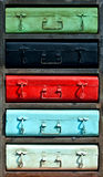 Armario colorido pintado del metal imagenes de archivo
