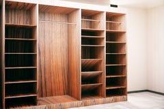 Armario de madera de Brown Foto de archivo