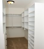 Armario de ropa vacío Imagen de archivo libre de regalías