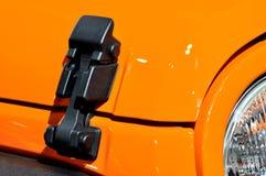 Armario del capo motor del motor del automóvil descubierto del deporte Fotografía de archivo libre de regalías