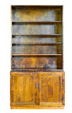 Armario del estante para libros del vintage, aislado Imagen de archivo