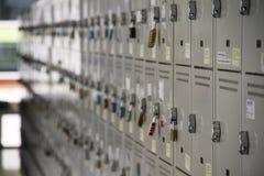 Armarios de la escuela Fotos de archivo libres de regalías