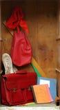 Armarios de la escuela vieja Fotos de archivo libres de regalías