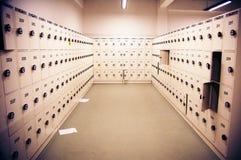 Armarios del metal blanco foto de archivo libre de regalías