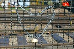 Armarios en el puente de Hohenzollern Fotografía de archivo libre de regalías