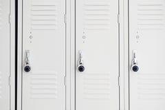 Armarios en gimnasio Imágenes de archivo libres de regalías