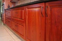 Armarios modernos de la cocina Imagen de archivo