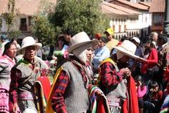 armas城市cusco de秘鲁广场 库存照片