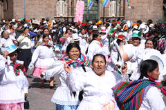 armas城市cusco de秘鲁广场 免版税库存照片