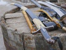 Armas cosacas, espadas, espadas Imagen de archivo libre de regalías