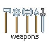 Armas da arte do pixel Fotografia de Stock Royalty Free
