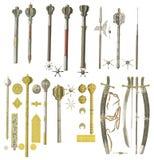Armas da Idade Média Imagens de Stock