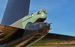 Armas de cola en un jet del bombardero B-52 en la capilla de la academia de fuerza aérea de Estados Unidos en Colorado Springs fotografía de archivo
