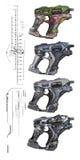 Armas de la ciencia ficción Imagen de archivo