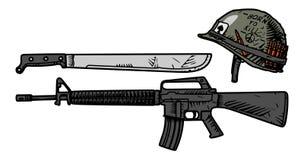 Armas de los E.E.U.U. durante la guerra de Vietnam stock de ilustración