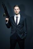 Armas de um homem de negócios Fotos de Stock