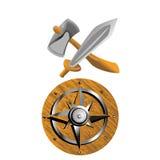 Armas de Vikingo Imagenes de archivo