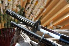 Armas del samurai Imágenes de archivo libres de regalías