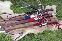 Armas do renascimento no prado foto de stock