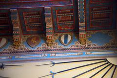 Armas en el ` Albertis de Castello d una residencia histórica en Genoa Italy Contiene actualmente el museo de las culturas del mu Foto de archivo libre de regalías