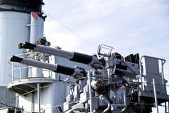 Armas en una nave Foto de archivo libre de regalías