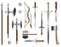 Armas medievais Fotografia de Stock Royalty Free