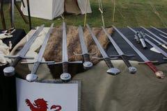 Armas medievales Imágenes de archivo libres de regalías