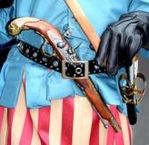 Armas medievales en una pistola de la correa imagen de archivo libre de regalías