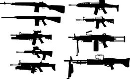 Armas modernas dos E.U. Imagens de Stock