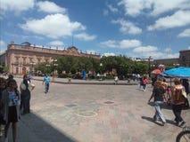 Armas place. View of armas place in San Luis potosi Mexico Stock Photos